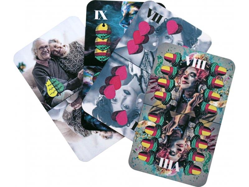 Sedmové hracie karty s potlačou