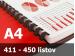 Väzba hrebeňová plastová A4 51mm - spracovanie
