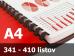 Väzba hrebeňová plastová A4 45mm - spracovanie
