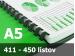 Väzba hrebeňová plastová A5 51mm - spracovanie
