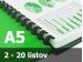 Väzba hrebeňová plastová A5 6mm - spracovanie