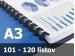 Väzba hrebeňová plastová A3R 16mm - spracovanie