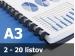 Väzba hrebeňová plastová A3R 6mm - spracovanie