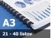 Väzba hrebeňová plastová A3R 8mm - spracovanie