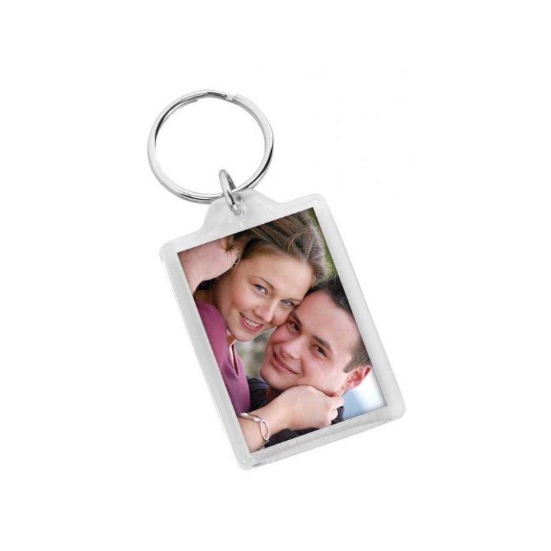 plastový prívesok s fotkou zamilovaného páru