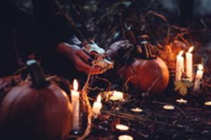 Tekvice a sviečky