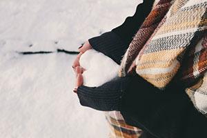 srdce zo snehu